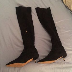 Thigh High Black Valentino Boots with heel
